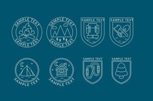 Logos de ligne d'alpiniste vecteur