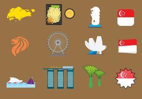 Vector icônes de Singapour