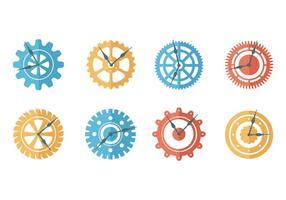 Vecteur de pièces d'horloge gratuit