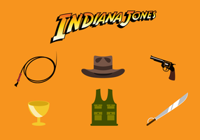 Libre indiana jones icone vecteur