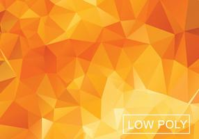 Orange géométrique faible fond de vecteur poly