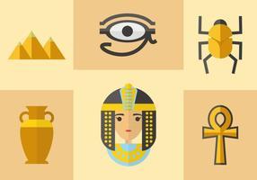 Vecteur d'icônes égyptiennes anciennes