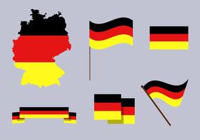 Vecteur de carte gratuit en Allemagne