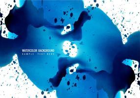 Fond d'aquarelle bleu vecteur