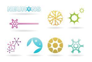 Logos de neurones vecteur