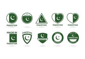 Vecteur d'étiquette gratuit du Pakistan