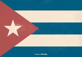 Rétro vieux drapeau cubain vecteur