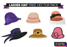 Ensemble vectoriel gratuit pour chapeau de dames