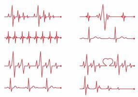Ensemble vectoriel de moniteur cardiaque