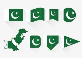 Ensemble de drapeau du Pakistan
