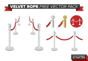 Pack de vecteur gratuit en corde de velours