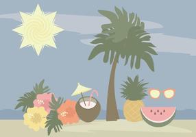 Vecteur hawaï éléments