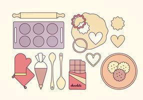Ensemble de vecteur Baking Elements