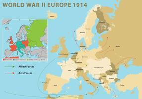 Deuxième guerre mondiale Europe vecteur