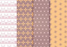 Ensemble de motifs décoratifs décoratifs vectoriels vecteur