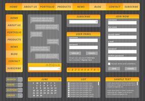 Kit Web Jaune vecteur