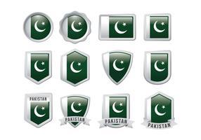Vecteur libre du drapeau du Pakistan