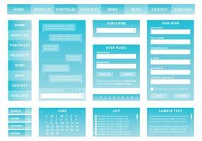 Kit web bleu vecteur