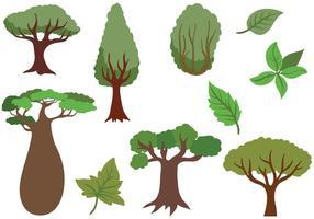 Vecteurs forestiers gratuits vecteur