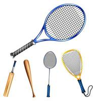 divers équipements sportifs vecteur