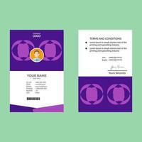 modèle de carte d'identité géométrique circulaire violet