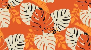 motif de couleur avec des feuilles de monstera vecteur