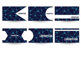 Ensemble de cartes de visite à thème Neuron vecteur