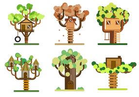 Vecteur gratuit arbre en arbre