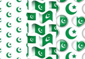 Ensemble de motifs de drapeau du Pakistan