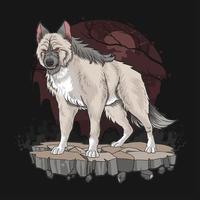 loup-garou en fond sombre