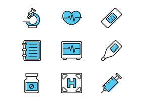 Icône médicale de ligne vecteur