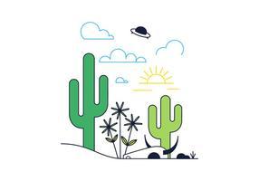 Vecteur libre du désert