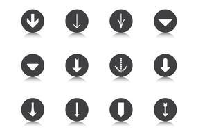 Dégrader le jeu de vecteur bouton de flèche