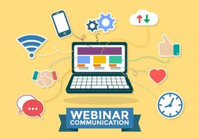 Webinaire Communication Infographic Vector