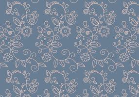 Motif de contour floral vecteur
