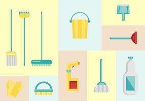 Vecteurs de nettoyage de maison gratuits