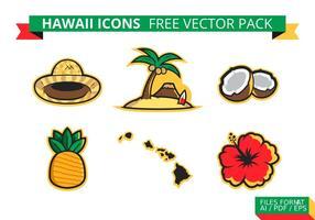Paquet de vecteur libre de fleurs d'Hawaï
