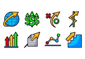 Agrandir l'icône d'entreprise vecteur