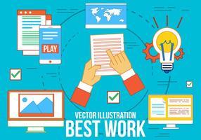 Icônes vectorielles gratuites Meilleur travail