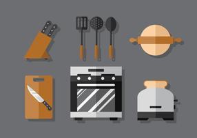 Set de cuisine vectorielle