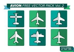 Pack vectoriel avion gratuit