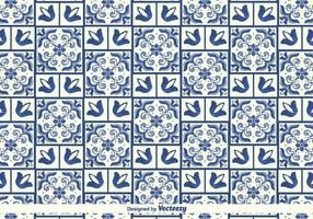 Modèle traditionnel d'azulejos vectoriels vecteur