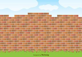 Mur rouge de briques rouges vecteur