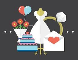 Vecteurs de mariage gratuits