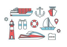 Éléments vectoriels gratuits de Nautica vecteur