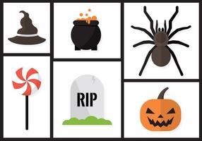 Éléments vectoriels de Halloween vecteur