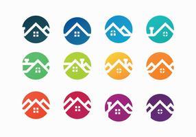 Vecteur de toits colorés gratuits