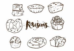 Ensemble de gâteau aux raisins secs