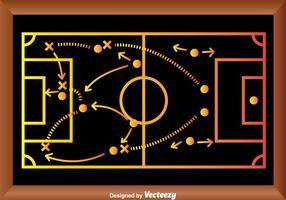 Stratégie de jeu de football Playbook vecteur