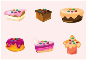 Smarties et gâteaux vecteurs